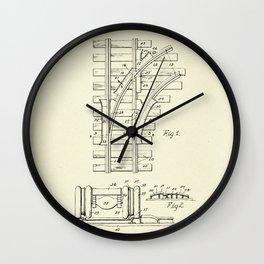 Railroad Track Construction-1932 Wall Clock