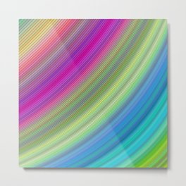 Curved colorful dream Metal Print