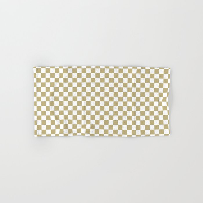 Checker (Sand/White) Hand & Bath Towel