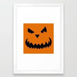 Pumpkin Face Framed Art Print
