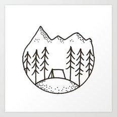 Camp Circle Art Print