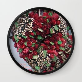 Crafted Christmas Heart Wall Clock