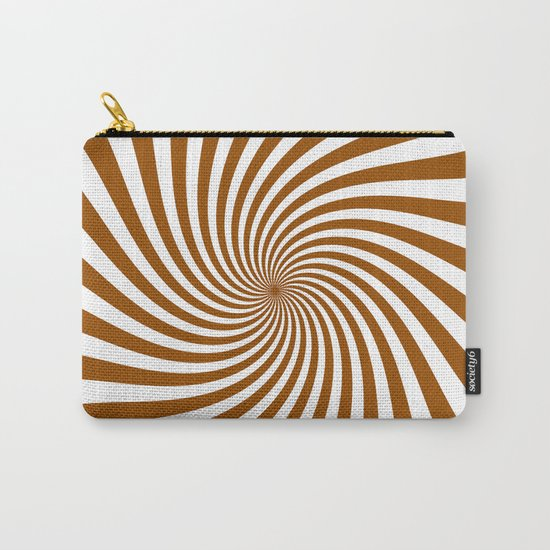 Swirl (Brown/White) Carry-All Pouch