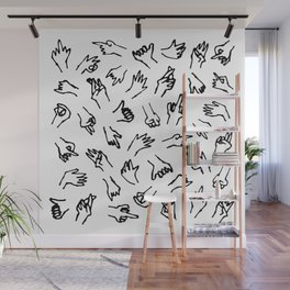 Bad Hands (White) Wall Mural