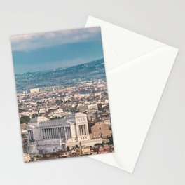 Rome Aerial View at Saint Peter Basilica Viewpoint Stationery Cards