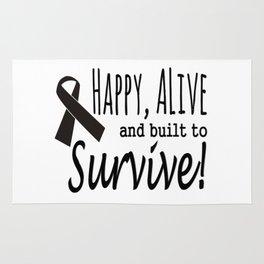 Happy Alive Melanoma Awareness Rug