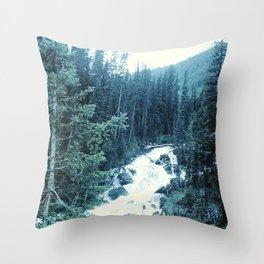 Mountan Stream Throw Pillow