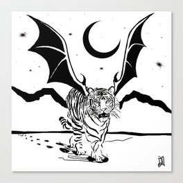 Flying Tiger Canvas Print