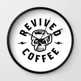 Revived By Coffee v2 Wall Clock