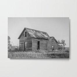 Falling Farm House, North Dakota 2 Metal Print
