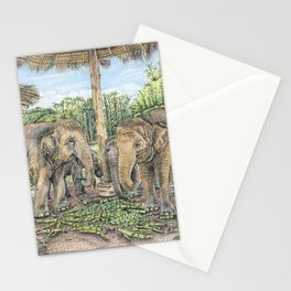 Rescued in Thailand Stationery Cards