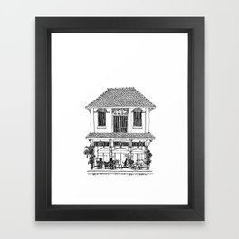 Southeast Asia Sketches: French Colonial Architecture; Laos Framed Art Print