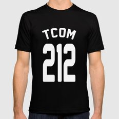 TCOM 212 AREA CODE JERSEY MEDIUM Black Mens Fitted Tee