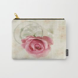 Vintage Textured Rose  Carry-All Pouch
