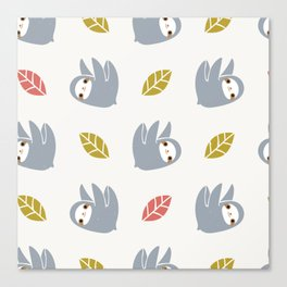 sloth pattern Canvas Print