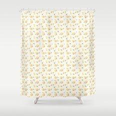 vintage 3 Shower Curtain