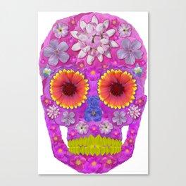 Flower Skull 2 Canvas Print