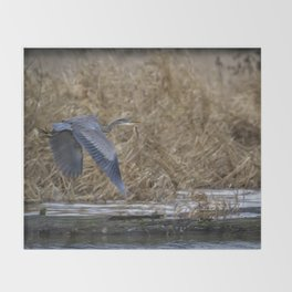 Flight of the Heron No. 2 Throw Blanket