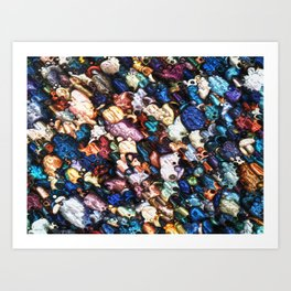 Abstract Colorful Reflections Art Print