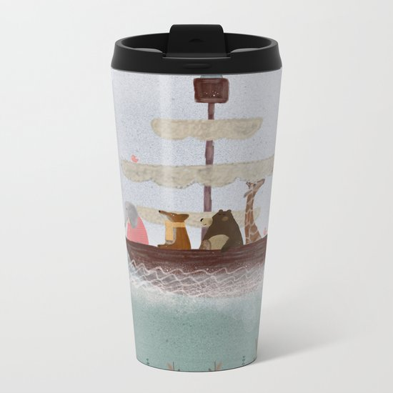 setting sail Metal Travel Mug