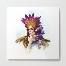 Miss Feather - BeFlower Metal Print
