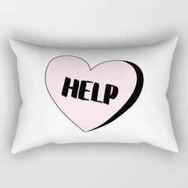 Help Candy Heart Rectangular Pillow
