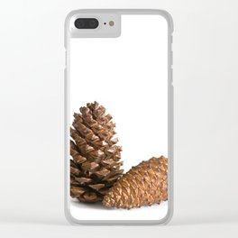 Two pinecones Clear iPhone Case