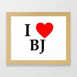 I love BJ - The cult shirt black2 Framed Art Print