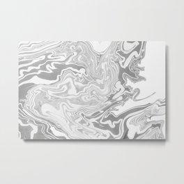 Gray Marble paper Metal Print