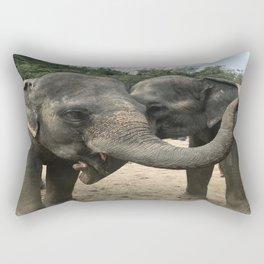 Elephants Rectangular Pillow