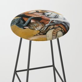 Cat Quartet Bar Stool