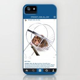 #Hamster_workout_selfie iPhone Case