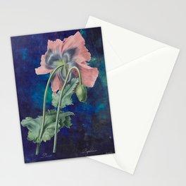 French Poppy - Vintage Botanical Illustration Collage Stationery Cards