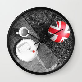 British Sunday - Still Life | Selective Red Wall Clock