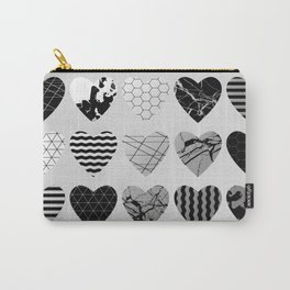 Metallic Love - Hexagon, stripes, triangles, geometric, marble, paint splat hearts! Carry-All Pouch