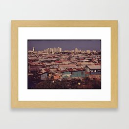 'MODERN BUILDINGS TOWER OVER THE SHANTIES CROWDED ALONG THE MARTIN PENA CANAL' Framed Art Print