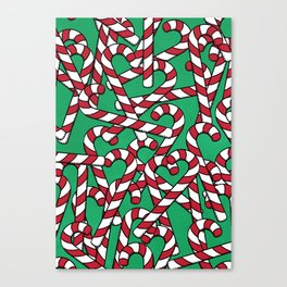 Candy Canes Canvas Print