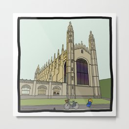 Cambridge stuggles: King's Metal Print