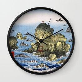 Hiroshige, Futamigaura in Ise Province Wall Clock
