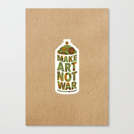 Make Art Not War Kraft Canvas Print