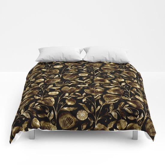 bronze flowers Comforters