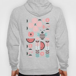 Bee in soft pink Hoody