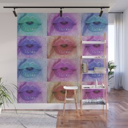 Sexy Candy Kisses Mouth Lipstick Wall Mural