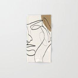 Abstract Face Hand & Bath Towel
