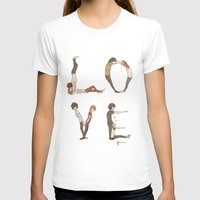 letters T-shirts featuring Love Letters by Meuphrosyne