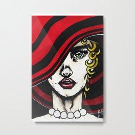 Red Pearls #1 Metal Print