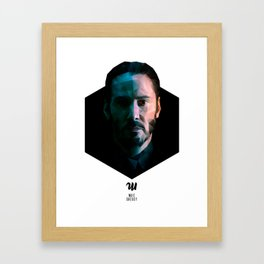 Low poly Keanu Reeves Framed Art Print