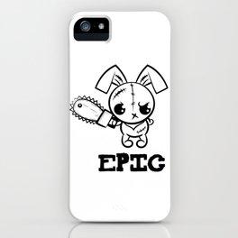 Epic Grumpy Voodoo Bunny Cute Bigfoot Monsters iPhone Case