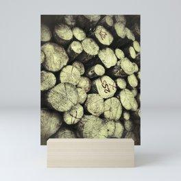Big felled wooden logs Mini Art Print