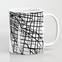 MELBOURNE AUSTRALIA BLACK CITY STREET MAP ART Coffee Mug